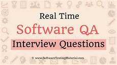 Real Interview Questions And Answers Real Time Software Qa Interview Questions And Answers