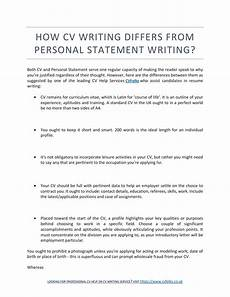 Writing A Personal Statement For A Cv Cv Personal Statement No Experience