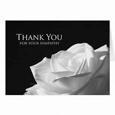 Condolences Thank Yous Sympathy Memorial Thank You Note Card Rose Zazzle
