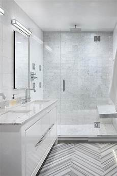 Light Grey Marble Bathroom Modern Bathroom Features A White Lacquer Vanity Topped