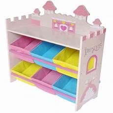 Kiddi Style Childrens Princess Wooden Storage Box And by Kiddi Style Princess Castle Themed Storage Unit With 6