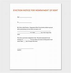 Notice Of Eviction For Nonpayment Of Rent Eviction Notice Template 5 Blank Notices For Word Pdf