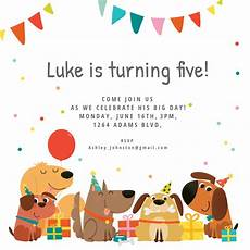 Toddler Birthday Invitation Dog Birthday Invitation Template Free Greetings Island