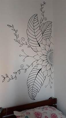 parede de quarto mandala desenho flor desenho de quarto