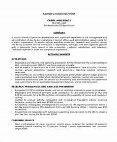 Sample Resume In Pdf Free 9 Functional Resume Samples In Pdf Ms Word