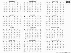 Free Printable Yearly Calendar Templates 2015 Free 2015 Printable Calendar Template