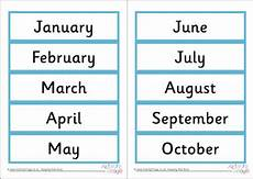 Printable Month Month Word Cards