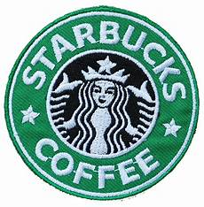 embroidery patches starbucks coffee patch embroidery badge sew on iron on
