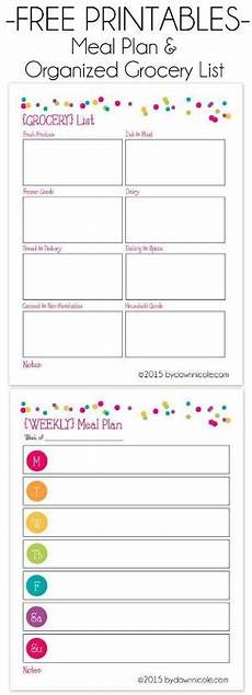 Grocery List Book Free Printable Grocery List And Meal Planner Back To