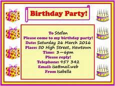 Party Invation Birthday Party Invitation Learnenglish Kids British