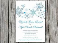 Winter Wedding Invitation Templates Snowflakes Wedding Invite Microsoft Word Template Winter