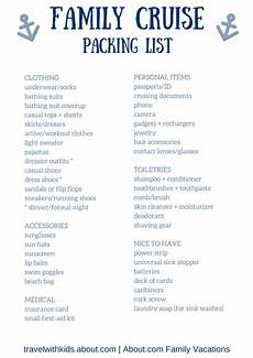Printable Packing List For Cruise Free Printable Packing List For Family Cruise Vacations