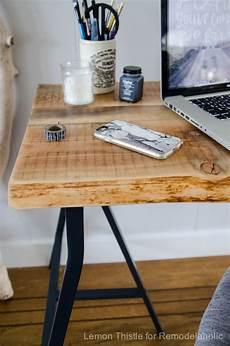 remodelaholic ikea hack easy diy live edge desk with