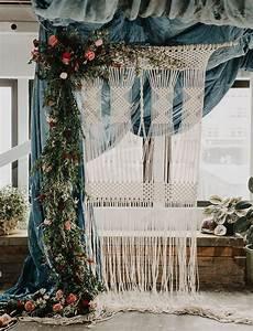 macrame backdrop stylish macrame wedding inspiration in portland green