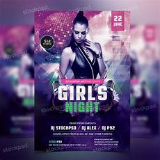 Free Flyer Template Psd Girls Night Party Free Psd Flyer Template Stockpsd