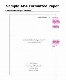 Apa Format Sample Outline Free 7 Sample Apa Outline Templates In Pdf