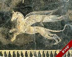 ancient fresco of mythical animal painting history