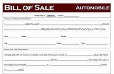 California Bill Of Sale Car Free California Car Bill Of Sale Template Off Road Freedom