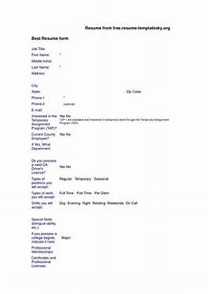 Resume Blank Form Free Download Download Free Blank Resume Forms Download Form Free