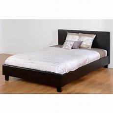 prado 4ft bed in black faux leather beautiful furniture