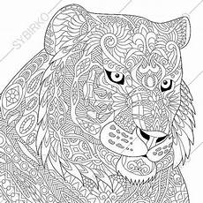 tiger coloring page animal coloring book pages for adults