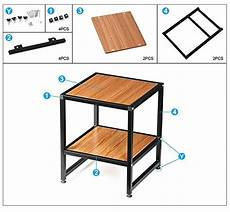 yaheetech 2 tier 15 quot square wood coffee table metal legs