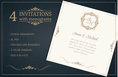 Invitation Free Download Wedding Invitations With Monograms Wedding Templates