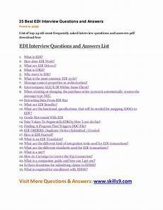 Frequently Asked Interview Questions And Answers 25 Best Edi Interview Questions And Answers