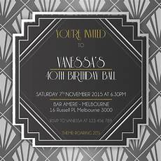 1920s Invitation Template Free 1920 S Birthday Digital Printable Invitation Template