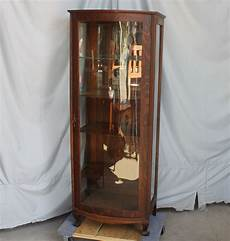 bargain s antiques oak currio cabinet
