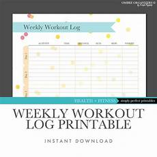 Weekly Exercise Log Items Similar To Weekly Workout Log Printable Instant