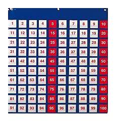 100 Square Pocket Chart Michael Doherty School Supplies Product Details