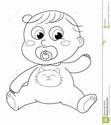 Baby Girl Coloring Pages Cute Baby Coloring Stock Vector Image Of Babies