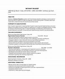 High School Teaching Resume Free 8 Sample Teacher Resume Templates In Pdf Ms Word