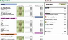 Budgeting College Students My University Money Interactive Student Budget