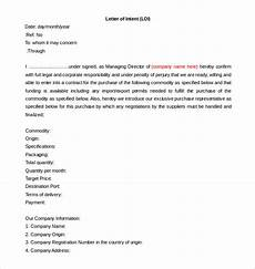 Sample Letter Of Intent Doc Free Intent Letter Templates 18 Free Word Pdf