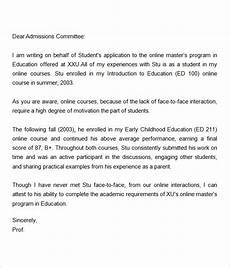 Letter Of Recommendation For Masters Program Letters Of Recommendation For Graduate School 15