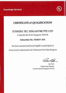 rma qualification product safety services toshiba tec singapore