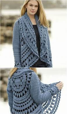 40 crochet jacket sweater and cardigan patterns for all