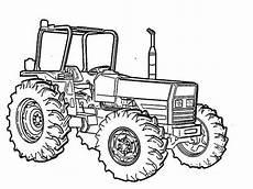 Malvorlagen Traktor Tractor Vehicle Coloring Page Print