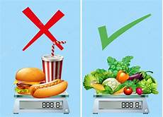 sund mad vs junkfood sang alimentos saludables versus junkfood archivo im 225 genes