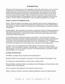 Evaluate Essay Example 001 Evaluation Essays Free Pdf Format Download Justifying