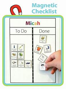 Make Your Own School Schedule Make Your Own Magnet Checklist Charts For Kids Morning