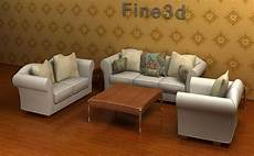 Small Space Sofa 3d Image by 3d Model Living Room Set Sofa Cgtrader