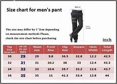 Big And Size Chart Pants Size Chart For Men S Pant Mens Pants Size Chart Mens