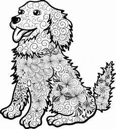 ausmalbilder tiere mandala hund
