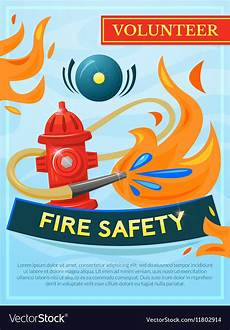 Vector Poster Fire Safety Poster Royalty Free Vector Image Vectorstock
