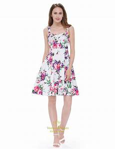sleeveless knee length square neck a line floral printed