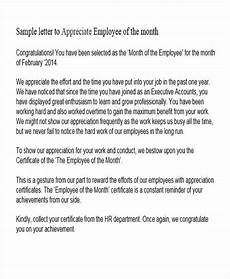 Appreciation Letter To Employees Free 44 Appreciation Letter Templates In Pdf