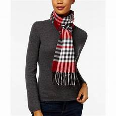 cejon tartan plaid fringe scarf 20 liked on polyvore